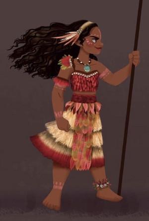 Chief Moana concept art