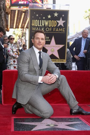 Chris Pratt and his new Hollywood Walk of Fame Star