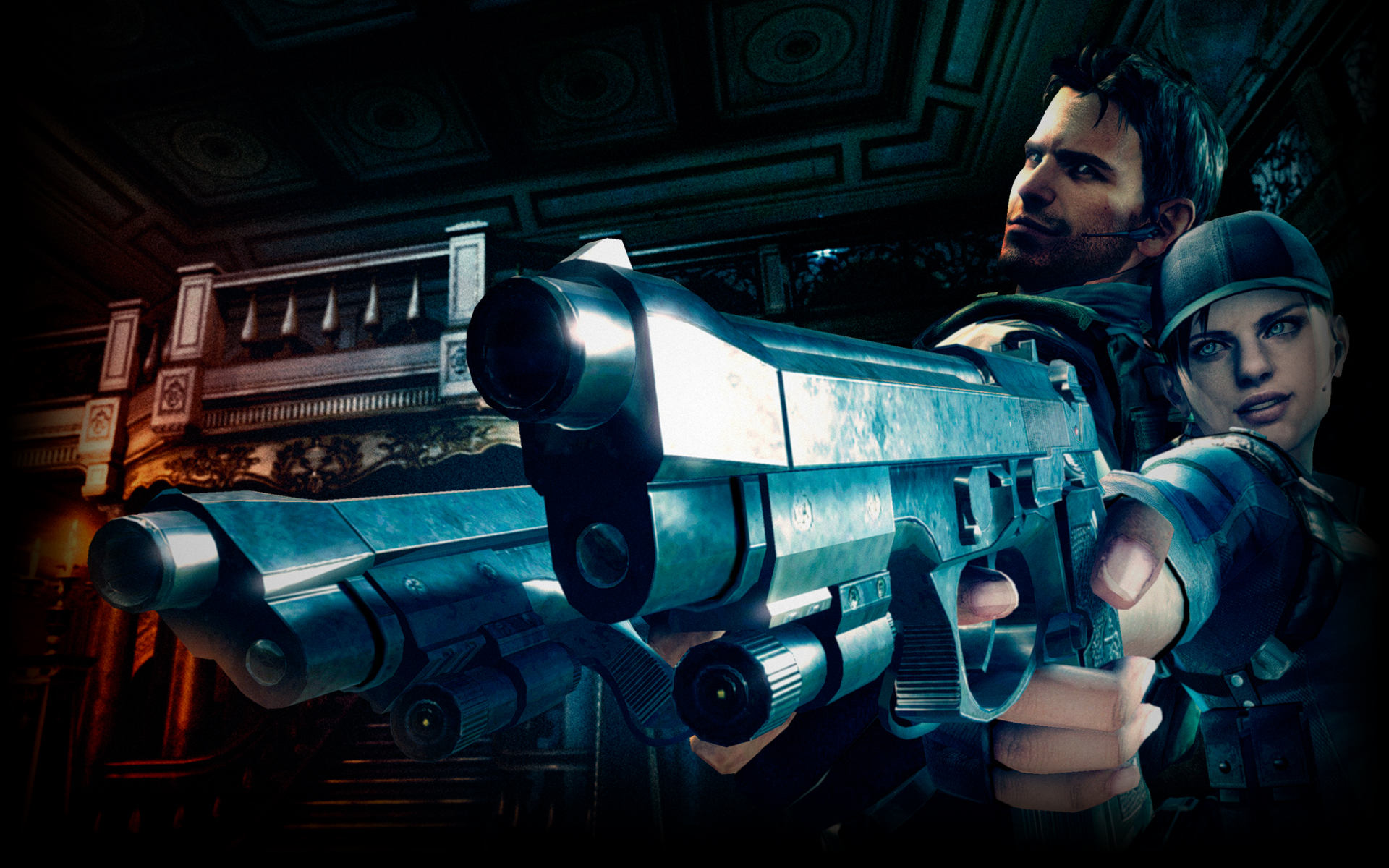 Chris And Jill Resident Evil 5 Wallpaper 40430067 Fanpop