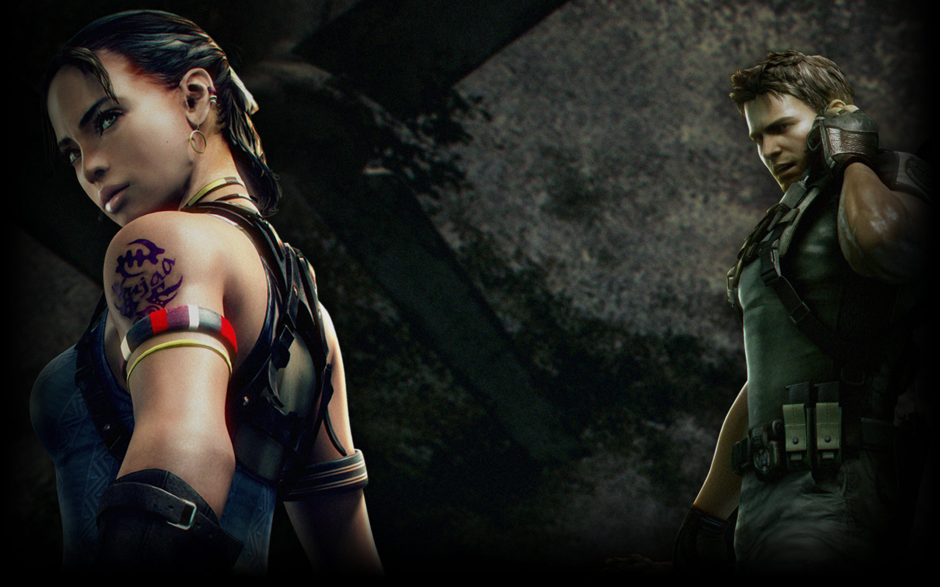 Chris And Sheva Resident Evil 5 Wallpaper 40430062 Fanpop
