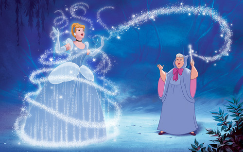 Cinderella wallpaper titled Cinderella and Fairy Godmother