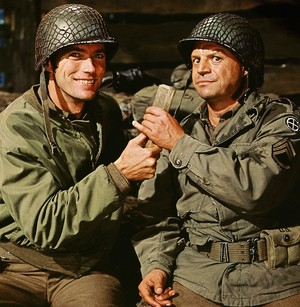 Don Rickles making Clint Eastwood smile on the set of Kelly's heroes