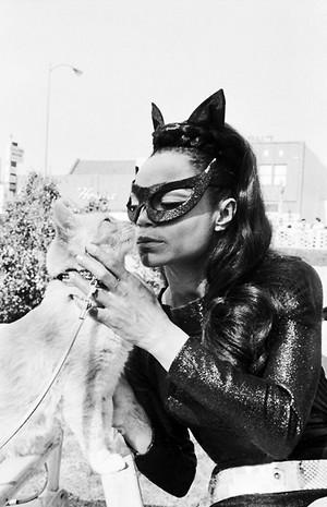 Eartha Kitt And Her Cat