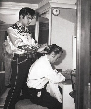 Elvis Cutting Johnny Cash' Hair