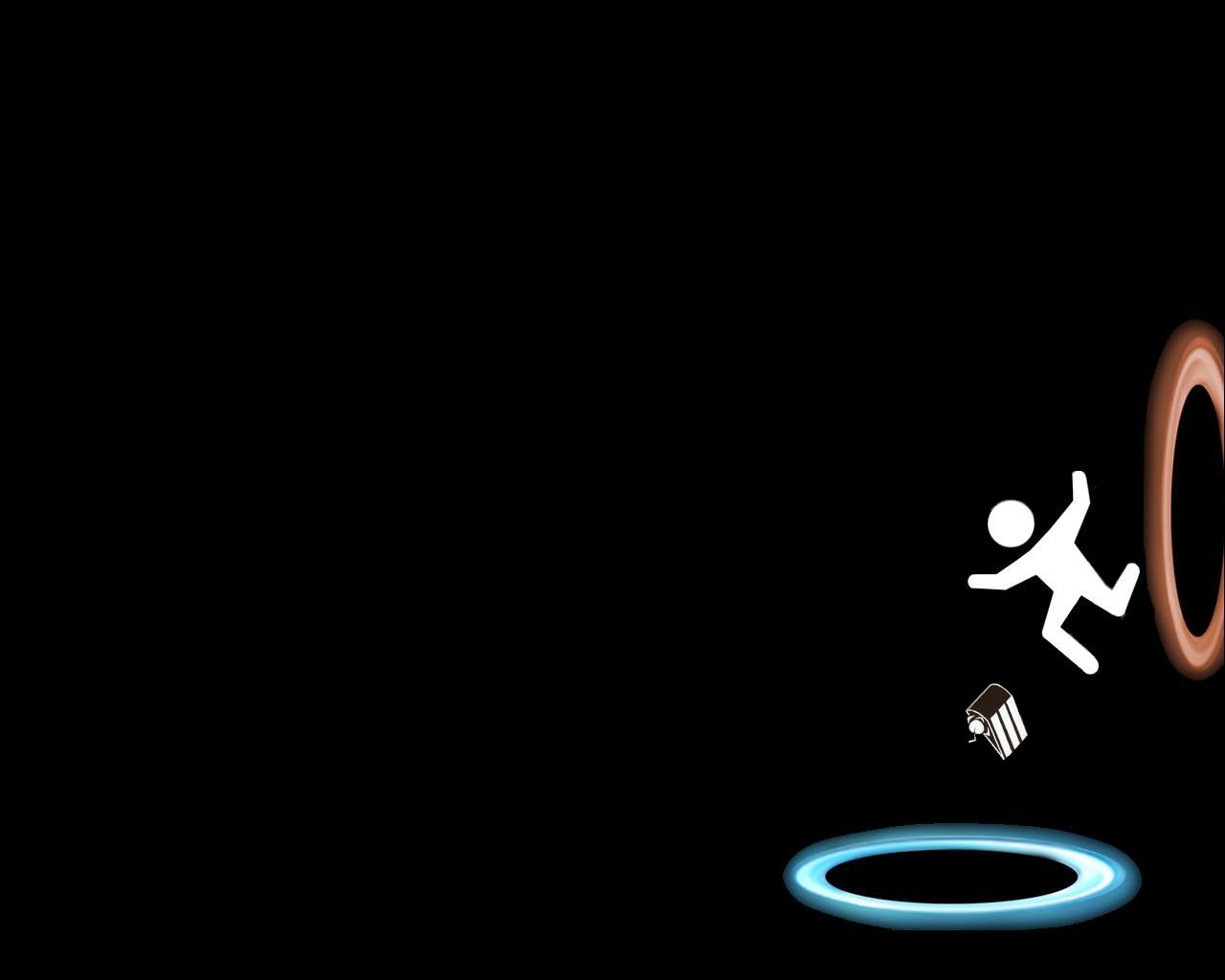 portal the game images falling hd fond d écran and background