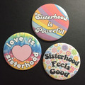 Flower Power Feminist Buttons