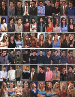 Friends from season 1 to season 10