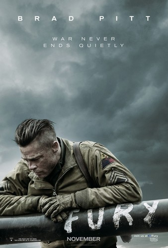 War filmes wallpaper titled Fury (2014) Poster