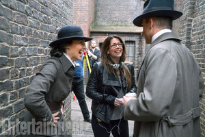 Gal Gadot, Patty Jenkins and Chris Pine behind the scenes of Wonder Woman