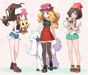Girls of pokémon