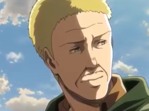 Hannes in the saat season of Shingeki no Kyojin