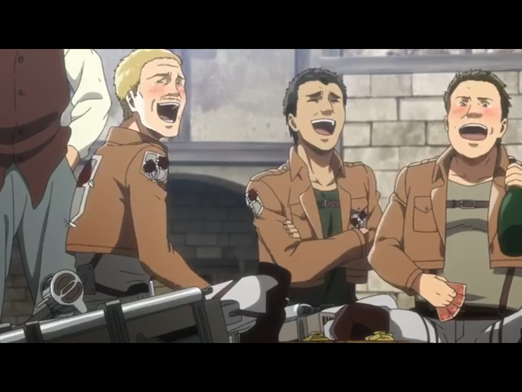Hannes laughing with his homies!