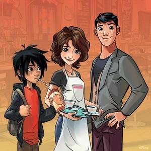 Hiro, Aunt Cass and Tadashi