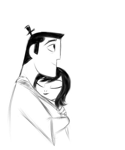Samurai Jack Hintergrund entitled Jack and Ashi