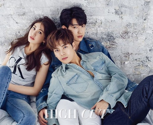 GOT7 fondo de pantalla titled Jackson, Jinyoung and Somi for HighCut Magazine