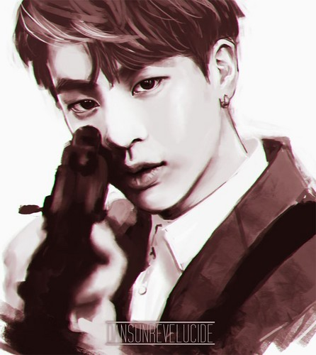 Bangtan Boys fondo de pantalla entitled Kim Seokjin with a gun