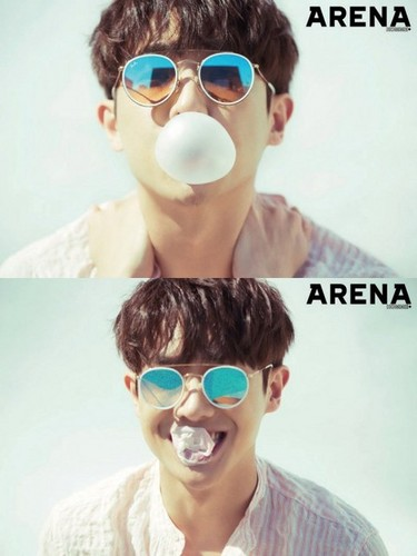 Lee Joon wallpaper called LEE JOON SHOWS HIS PLAYFULNESS IN 2017 MAY'S ARENA