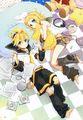 Len and Rin - rin-and-len-kagamine fan art