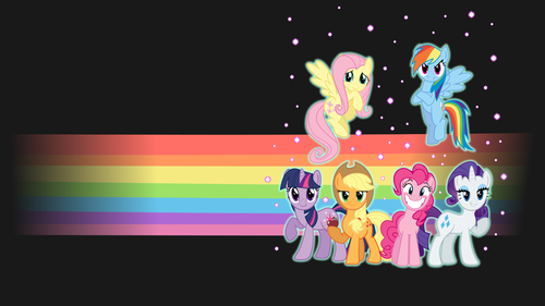 my little pony friendship is magic wallpaper called Mane Six