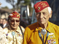 Marine and Navajo Code Talkers Roy Hawthorne and Sam Holiday