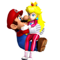 Mario and Princess pêssego Honeymoon amor
