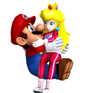 Mario and Princess perzik Honeymoon Love