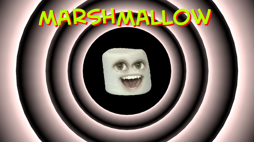 The Annoying Orange wallpaper entitled Marshmallow wallpaper