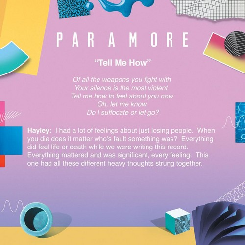 Paramore پیپر وال titled Meaning behind Tell Me How