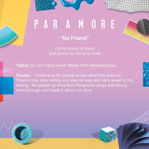 Paramore fond d'écran called Meaning behind No Friend