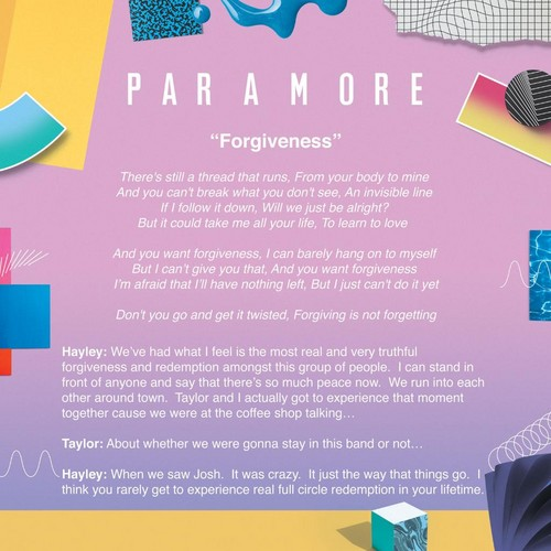 Paramore wallpaper called Meaning behind Forgiveness