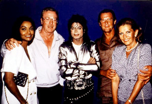 Michael Backstage With Friends