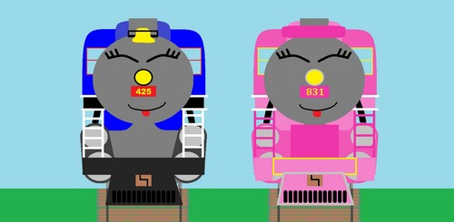 Thomas the Tank Engine wallpaper called Mily and Jazlin3
