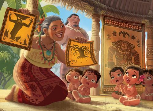 Moana wallpaper entitled Moana Storybook