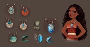 Moana's halskette concept art