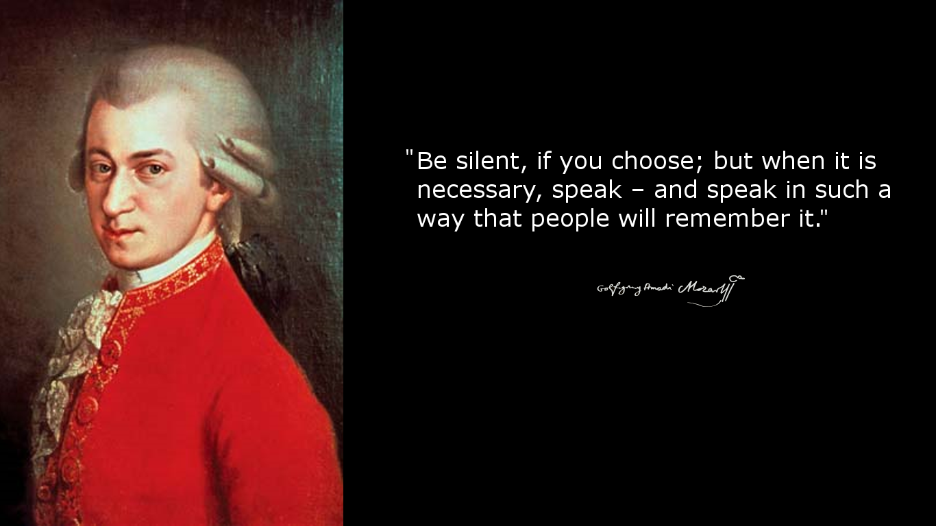wolfgang amadeus mozart speech Home / wolfgang amadeus mozart essays / music speech admin 04 dec 2017 0 comments do you sing at the top of our lungs dally in your car on the way to school, in the shower, or while cleaning your house.