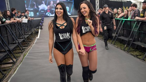 Billie Kay & Peyton Royce achtergrond called NXT Live - Download Festival - UK - 9th June 2017
