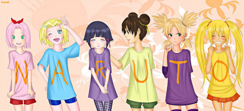 Wanita Naruto kertas dinding titled Naruto Girls