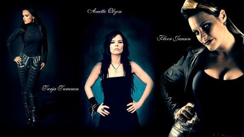 Symphonic Metal wallpaper titled Nightwish Lead Vocalists - Tarja Turunen, Anette Olzon, Floor Jansen