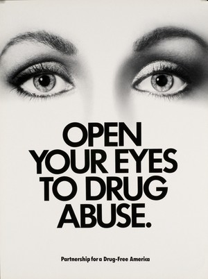 Open your eyes to Drug Abuse poster (1986)