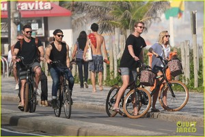 Paul Wesley & Candice King Hang Out at the Beach in Rio!