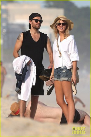 Paul Wesley & Candice King Hang Out at the playa in Rio!