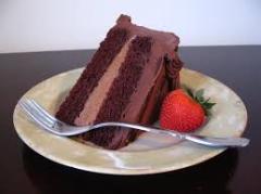 A Slice Of A Chocolate Cake
