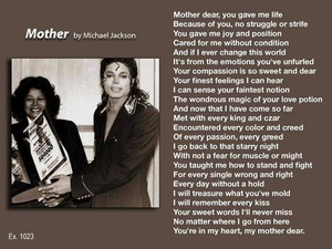 Poem Pertaining To Michael's Mother