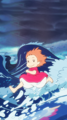 Ponyo on the Cliff kwa the Sea Phone Background