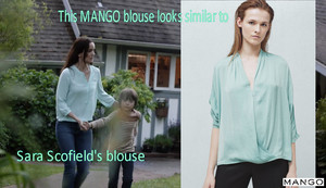 Prison Break Season 5: This MANGO blouse looks similar to Sara Scofield's blouse