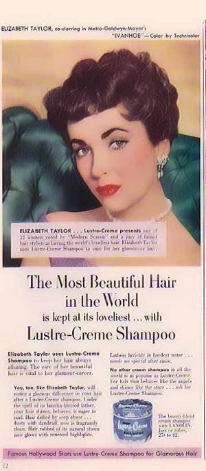 Promo Ad For Lustre-Creme Shampoo