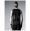 Punk Summer Black O Neck Sleeveless Gear Print Boys Shirts 04 - punkpartydress photo