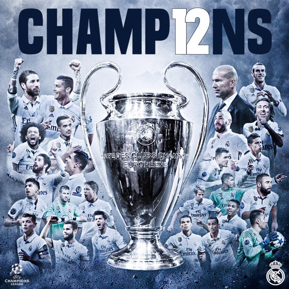 Real Madrid Winner Of Its 12th UEFA Champions League Real
