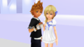 Recoded Promise Roxas x Namine. MMD png
