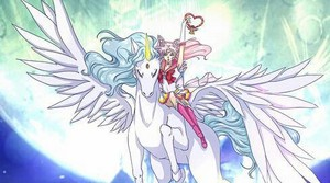 Sailor Chibimoon with Pegasus